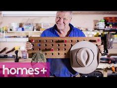 DIY  Peg Hat Rack - homes+ - YouTube Hats 0944dacd7cb6