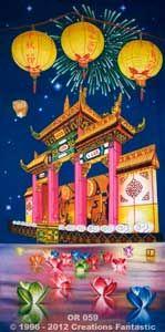Backdrop OR059 Oriental Celebration Panel 5