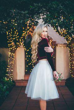 [The City Blonde] ivory Ashley tulle skirt