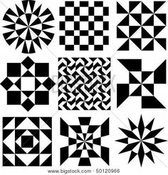 Vector Geometric Patterns in Black and White Poster in 2020 Geometric pattern Geometric design art Black and white posters