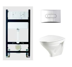 Ifö Sign Vägghängd WC Komplett Toilet, Bathroom, Washroom, Flush Toilet, Full Bath, Toilets, Bath, Bathrooms, Toilet Room