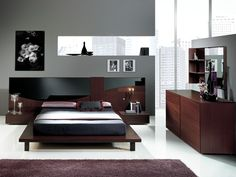 one darker wall...wine colour accents..black and white wall art