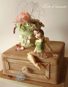 Fairy in the enchanted garden - Cake by Torte d'incanto Gorgeous Cakes, Pretty Cakes, Cute Cakes, Amazing Cakes, Fondant Cakes, Cupcake Cakes, Fantasy Cake, Gateaux Cake, Fairy Cakes