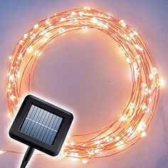 I must get these for the patio! Top Rated Outdoor Solar Powered String Lights - 20ft LED Light String Set with Solar Panel
