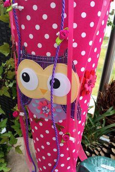 Paula, die Eule  - Schultüte/ Zuckertüte von XBergDesign2 auf DaWanda.com