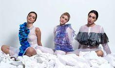Giulia Tano 2014 graduation collection - sculptural plastic fashion - drapery experiments