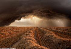 Extreme storm weather captured by 61-year-old Franz Schumacher near Stuttgart, Germany