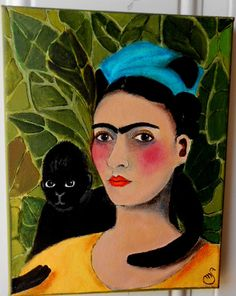 Portrait in acrylic of Frida 8 x 10 by OneWildSwan on Etsy, Another Frida for those who love her! SOLD