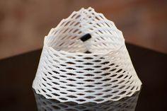 A closeup of the flexible neck 3D print.