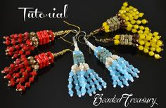 This listing is for a digital Photo Tutorial. By purchasing this tutorial you will learn how to create yourself the Shiny Tassels earrings in a