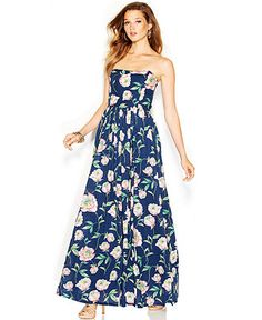 French Connection Strapless Floral-Print Maxi Dress - Dresses - Women - Macy's @mandikay4 Wedding guest?