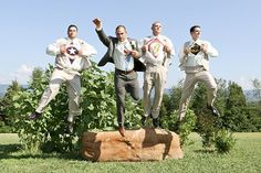 This group took flight after the ceremony.Photo Credit: Farrah's Photography