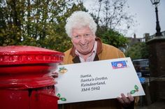 Former Time Lord actor Tom Baker remind customers of the Royal Mail's last recommended postal dates for the festive season