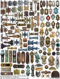 Mini Hardware Collage Sheet- Digital Printable - Instant Download Miniatures Harry Potter, Miniature Crafts, Etsy App, Miniture Things, Collage Sheet, Art Plastique, Paper Dolls, Fabric Dolls, Dollhouse Miniatures