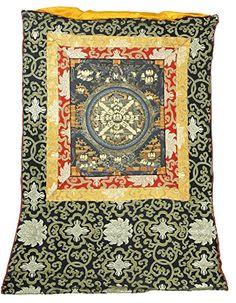 ShalinIndia Thangka Painting Silk Canvas Scroll Art Mandala gift ...