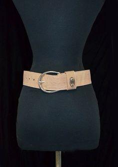 Vintage Pearl Accessories Wide Belt.  Lizard Croc by FlanneryCrane, $22.00