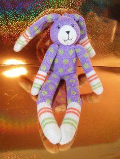 Monkeez & Friends Bunny Sock Monkey Purple Beanie Bottom Plush Toy… Sock Bunny, Misfit Toys, Animals For Kids, Smurfs, Dinosaur Stuffed Animal, Plush, Sock Monkeys, Beanie, Socks