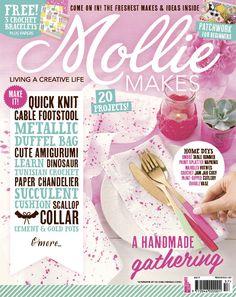 Mollie Makes Fifty Seven 2015 - 21 Августа 2015 - скачать pdf журналы Crochet Doily Rug, Tunisian Crochet, Handmade Table, Handmade Crafts, Ombre Table Runner, Paper Chandelier, Mollie Makes, Craft Online, Quick Knits