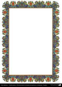Arte islámico – Tazhib persa - cuadro - 73 | Galería de Arte Islámico y Fotografía