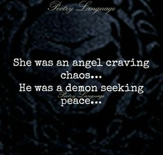 She was an angel craving chaos
