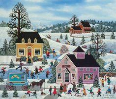 Джейн Wooster Скотт - популярная американская художница. На картинах художницы начало 20 века в Америке. Но это не столько реальные сцены, сколько мысли автора …