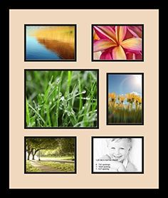 art to frames doublemultimat36778389frbw26079 collage photo frame double mat with 1 8x10 and 5 5x7 openings