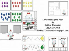 Math and Tracing Activities for Christmas