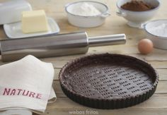 Masa base de chocolate para tartas.