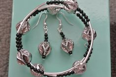 Boho chic wrap bracelet and earring set by Momsawrapstar on Etsy https://www.etsy.com/listing/232722641/boho-chic-wrap-bracelet-and-earring-set