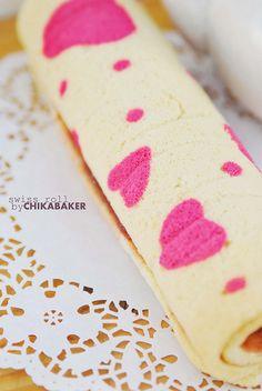 pink heart swiss roll & teapot ♥ by chikachocobo, via Flickr