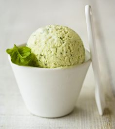 Basil ice cream
