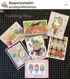 Stampin Up Paper Pumpkin, Stampin Up Cards, Hand Stamped, Giraffe, Happy Birthday, Paper Crafts, Pumpkin Ideas, Kids, Children