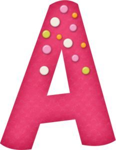 Girly Dots Alphabet - Free Full Alphabet is available when you click through this link