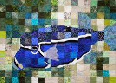 Underwater art quilt by Trish Morris-Plise.  Mountain Art Quilters: January 2014.