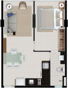 Home Room Design, Small House Design, Home Design Plans, Home Interior Design, Studio Floor Plans, Small House Floor Plans, Mobile Home Floor Plans, Apartment Floor Plans, My Ideal Home