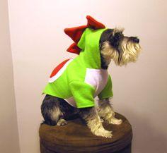 Yoshi Nintendo Super Mario Bros. Dinosaur  Dog by playfulpup, $35.00