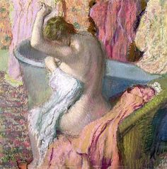 Seated Bather (La Sortie du bain): 1895 by Edgar Degas (Private Collection) - Impressionism