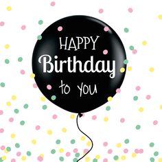 Leuke verjaardagkaart met ballon en gezellige confetti!l Verkrijgbaar bij #kaartje2go voor €1,89