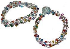 Multi Colored Seed Bead Wire Bracelet Pattern