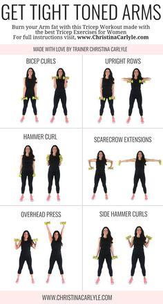 Arm workout for women & Best Arm Exercises for women that want tight toned arms. This arm workout routine was made with some of the& The post Arm Workout for Women that Want Tight Toned Arms appeared first on Griffith Diet and Fitness. Personal Fitness, Physical Fitness, Health And Fitness Articles, Health Fitness, Workout Fitness, Health Tips, Fitness Diet, Health Benefits, Fitness Circuit