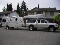Our customized 17B Fiberglass Trailer.    Built by Escape Trailer Industries, Chilliwack, British Columbia.