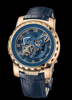 "Showing at WatchTime New York Ulysse Nardin Freak ""Blue Phantom"" Watches For Men, Men's Watches, Watch Brands, Luxury Watches, Bracelet Watch, Jewelry Accessories, Geek Stuff, Mens Fashion, Male Jewelry"
