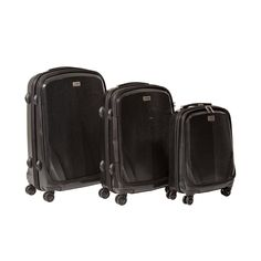 CASED Luggage One Hard Case Luggage 3-Piece Set (Black) * Visit the image link more details. (This is an Amazon Affiliate link and I receive a commission for the sales)