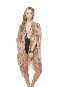 Indian Summer Kimono Wrap in Pink