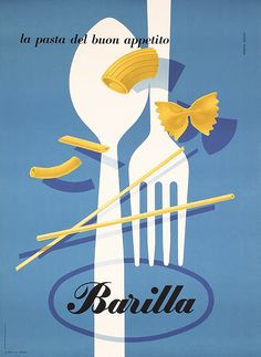 Creative Pasta, Vintage, Sizes, Carboni, and Barilla image ideas & inspiration on Designspiration Vintage Italian Posters, Pub Vintage, Vintage Advertising Posters, Vintage Italy, Vintage Advertisements, Pr Logo, Casa Milano, Italian Pasta, Italian Cafe