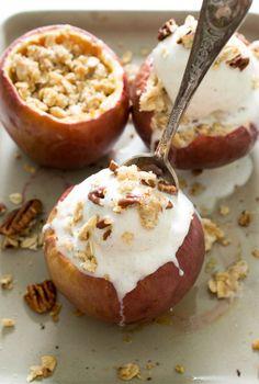 Stuffed Baked Apple Crisp   Ten 30-Minute Meals to Satisfy Last Minute Guests #theeverygirl