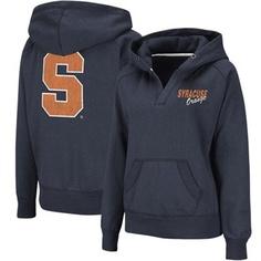 Syracuse Orange Ladies Heritage V-Neck Hoodie - Navy Blue