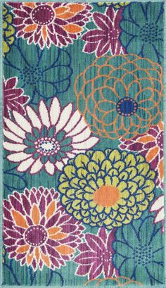 Loloi Rugs Isabelle ISBEHIS05 Teal Multi
