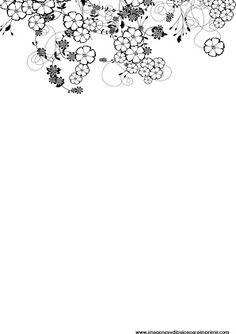 Hojas decoradas en blanco y negro para imprimir - Hojas decoradas para ninas ...