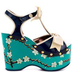 Alaska heels Blue brand heels Irregular Choice